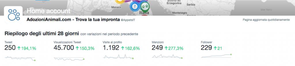 Condivisioni Twitter Analytics