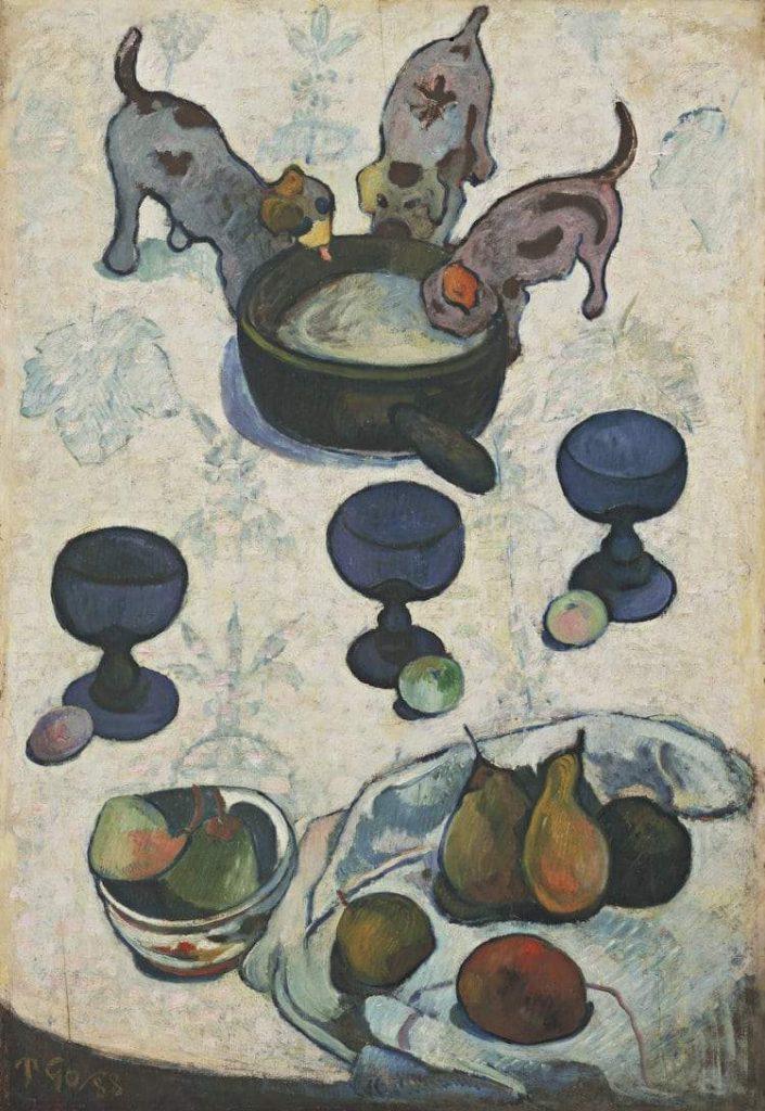 Paul Gauguin Natura Morta con 3 Cagnolini